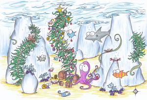kerst in zee